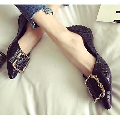 Polyuréthane Talon Chaussures Noir Plat Printemps Argent Femme Ballerines 06864595 Confort fPq5XxR