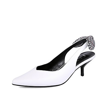à Talons Talon Aiguille Printemps Femme été Cuir Nappa 06858773 Blanc Noir Confort Chaussures Chaussures xxq8w06UT