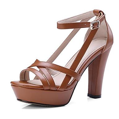 claire Bout Bottier Cuir Chaussures Confort Noir Talon Eté Femme Nappa Sandales Brun 06849071 Blanc ouvert 8fOwq0Wx5
