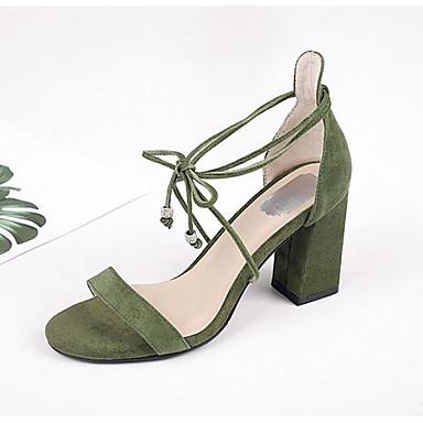 Vert 06849929 Confort Chaussures Bottier Rose Femme Noir Daim Sandales Eté Talon 4w7nx8pBq