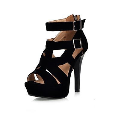 Daim Chaussures 06862519 été Sandales Confort Femme Printemps Talon Aiguille Noir Oq5fd1Cxw