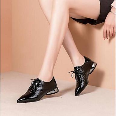 Noir Cuir Vert 06841588 Femme Chaussures fermé Printemps hétérotypique Oxfords Nappa Véronèse Confort Bout Talon Eté gxFPqw