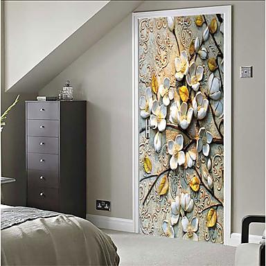 povoljno Zidne naljepnice-Dekorativne zidne naljepnice - 3D zidne naljepnice Mrtva priroda / 3D Spavaća soba / Unutrašnji