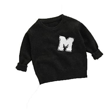 baratos Suéteres & Cardigans para Meninos-Bébé Para Meninos Básico Sólido Manga Longa Suéter & Cardigan Verde