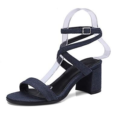 Noir Sandales Bottier Printemps Femme été 06850317 Nappa Chaussures Bleu Confort Cuir Talon YYt8pwz