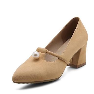 Confort PU Tacones Negro Mujer Zapatos Almendra Gris 06848628 Cuadrado Tacón Primavera wI7Itqx