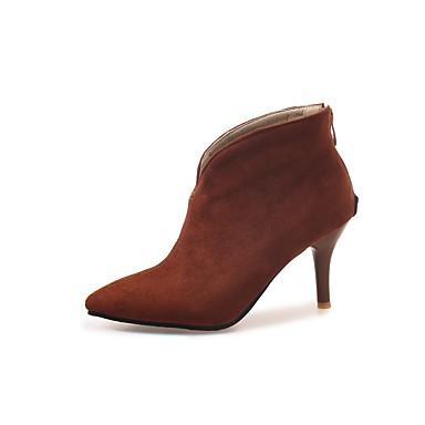 d150cad69efc Women s Shoes Suede Fall   Winter Bootie Boots Stiletto Heel Pointed Toe  Booties   Ankle Boots Black   Brown   Green   Wedding   Party   Evening