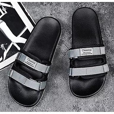 ; De Toile Noir Eté Chaussures Confort Tongs Homme Chaussons 4tqwII
