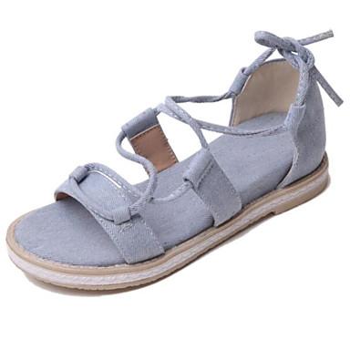 Eté Gris Sandales Polyuréthane Talon Confort Noir 06841738 Femme Chameau Plat Chaussures P6T4xw