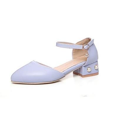 Rosa Primavera Confort Azul 06861948 Beige Cuadrado Tacones PU Mujer Tacón Zapatos tqwpEnxz