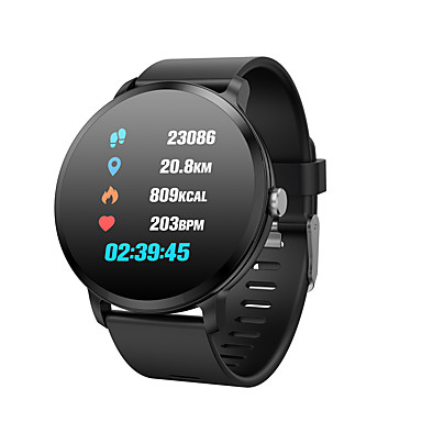 Indear V11 Pulseira inteligente Android iOS Bluetooth Impermeável Monitor de Batimento Cardíaco Medição de Pressão Sanguínea Tela de toque Podômetro Aviso de Chamada Monitor de Atividade Monitor de