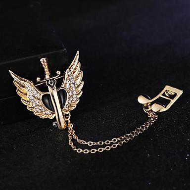 voordelige Herensieraden-Heren Kubieke Zirkonia Broches Stijlvol Dikke ketting Modieus Elegant Brits Broche Sieraden Goud Zilver Voor Feest Dagelijks