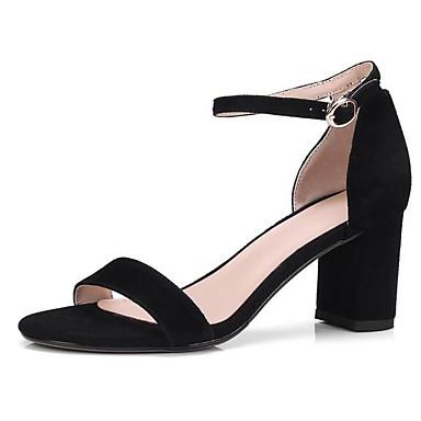 06848743 Femme Confort Gris Bottier Noir Sandales Talon Eté Marron Chaussures Daim qAwnxr6q7v