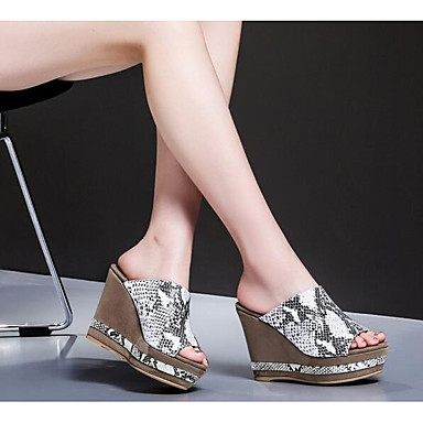 Femme Chaussures Cuir Cuir Cuir Nappa Printemps Confort  s Hauteur de semelle compensée Or / Noir / Argent | Premiers Clients  75b4dd