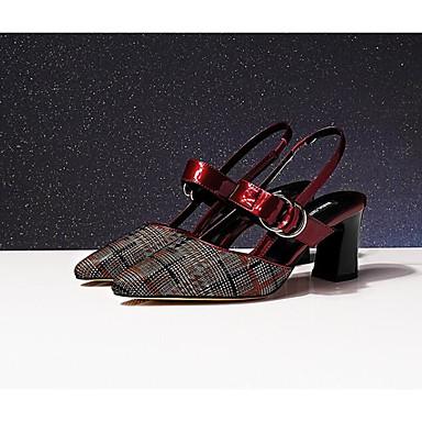 Noir Talon Confort mouton été Bourgogne Chaussures Escarpin Femme Bottier Peau Printemps de 06850115 Sandales Basique YAvW7qw