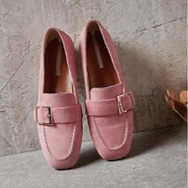 et Peau Automne Chaussures D6148 amp; Mocassins mouton Rose de Femme confort Plat Chaussons de 06870094 Noir Talon Printemps wvtq8WRx