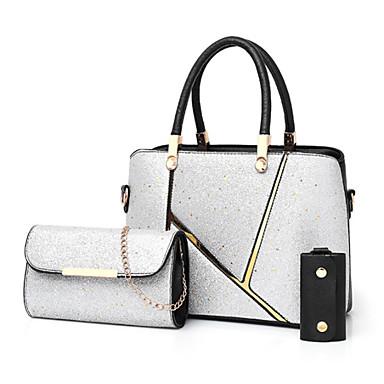 86018369a1 Γυναικεία Τσάντες PU Σετ τσάντα 3 σετ Σετ τσαντών Φερμουάρ Ασημί   Ρουμπίνι    Καφέ
