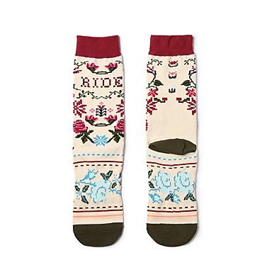 abordables Accessoires pour Chaussures-1 paire Femme Chaussettes Standard Fleur Des sports Style Simple Coton EU36-EU42