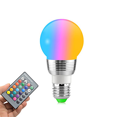 abordables Ampoules électriques-1 pc RGB couleur changeante e27 e14 RGB led ampoule led lampe spot de lumière ampoule ir télécommande maison salon partie décoration