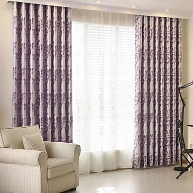 sur mesure occultant rideaux occultants rideaux deux panneaux personnalis e violet claire. Black Bedroom Furniture Sets. Home Design Ideas