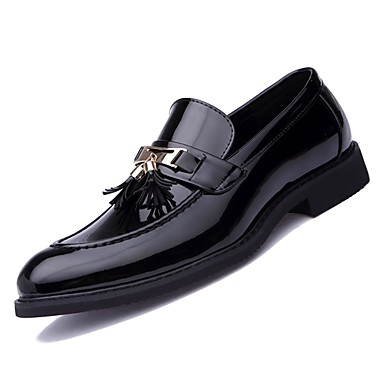 Men's Comfort Shoes PU(Polyurethane) Fall Loafers & Slip-Ons Evening Black / Party & Evening Slip-Ons f0d8ac