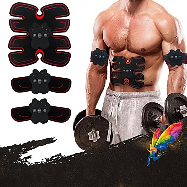 Abs Stimulator EMS Abs Trainer 33 cm Diameter PU Leather / Polyurethane Leather Electronic Non Toxic Strength Training Muscle Toner Muscle Toning Massage Build Muscle, Tone & Tighten Exercise