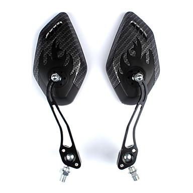 billige Sykkeltilbehør-Bakspeil Speil til sykkelstyre Lettvekt Flyvning med 360 graders flipp justerbar Fleksibel Verneutstyr Til Vei Sykkel Fjellsykkel Sykling Aluminum Alloy ABS Svart 2 pcs