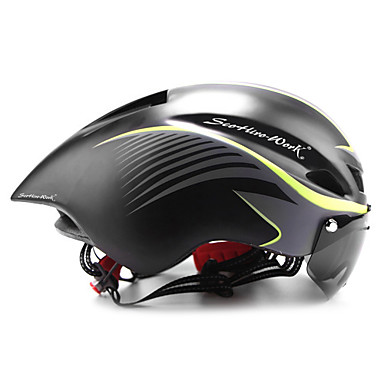 Scohiro-Work Adults Bike Helmet with Goggle Aero Helmet 8 Vents CE EN 1077 Impact Resistant, Light Weight, Ventilation EPS Sports Road Cycling / Mountain Bike / MTB - A / B / E