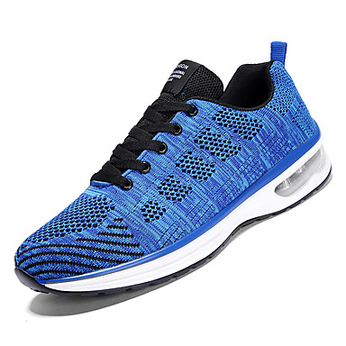 Men's Comfort Shoes Mesh Fall Sporty Athletic Light Shoes Running Shoes Non-slipping Light Athletic Grey / Red / Blue 370051