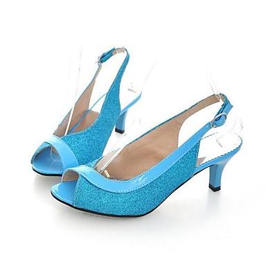 voordelige Damessandalen-Dames Sandalen Comfort schoenen Naaldhak PU Lente Zwart / Goud / Zilver