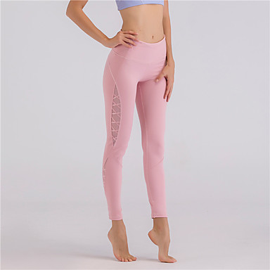 femme mosa que pantalon de yoga noir rose pale bourgogne des sports couleur unie maille leggings. Black Bedroom Furniture Sets. Home Design Ideas