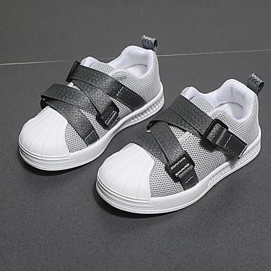 voordelige Babyschoenentjes-Meisjes Netstof Sneakers Peuter (9m-4ys) / Little Kids (4-7ys) Comfortabel / Oplichtende schoenen Zwart / Grijs / Roze Herfst winter / Polyester rubber