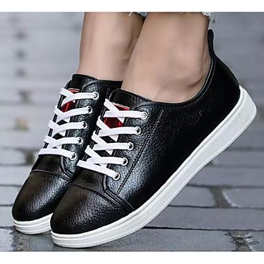 2019 Nuovo Stile Per Donna Scarpe Comfort Pu (poliuretano) Primavera & Autunno Sneakers Piatto Bianco - Nero #06941033 Disabilità Strutturali