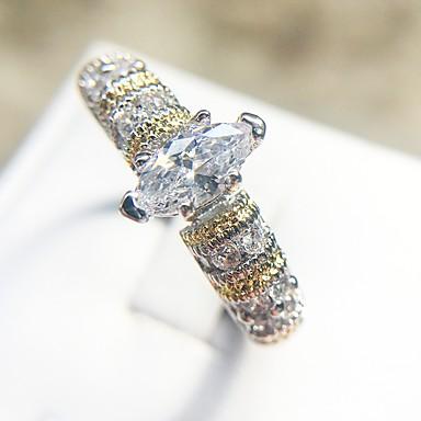 billige Motering-Dame Ring 1pc Sølv Kobber / Platin Belagt / Fuskediamant damer / trendy / Elegant Stevnemøte / Festival Kostyme smykker