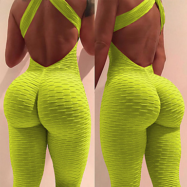 bc299d9aa5df Women s Ruched Butt Lifting Romper Workout Jumpsuit Sky Blue Royal Blue  Burgundy Sports Solid Color Spandex High Rise Leggings Bodysuit Zumba Yoga  Gym ...