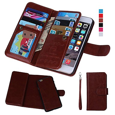 Case For Apple iPhone XR / iPhone XS Max Wallet / Card Holder / Shockproof Full Body Cases Solid Colored Hard Genuine Leather for iPhone XS / iPhone XR / iPhone XS Max