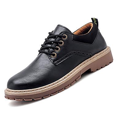 2019 Moda Per Uomo Scarpe Comfort Pu (poliuretano) Autunno Formale Oxfords Antiscivolo Nero - Marrone #06918028