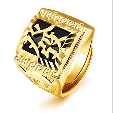 voordelige Herensieraden-Heren Midi Ring Zegelring 1pc Goud 18K Goud Vierkant Modieus Feest Dagelijks Sieraden Retro Gegraveerd Cool
