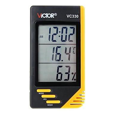 voordelige Test-, meet- & inspectieapparatuur-victor vc330 huishoudelijke digitale draagbare thermometer en hygrometer met klok en kalender
