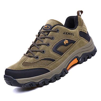 Erkek Ayakkabı Örümcek Ağı / PU Sonbahar Sportif Atletik Ayakkabılar Dağ Yürüyüşü Atletik için Gri / Kahverengi / Ordu Yeşili / Zıt Renkli