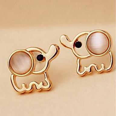 voordelige Dames Sieraden-Dames Oorknopjes Olifant Dames Eenvoudig oorbellen Sieraden Goud Voor Dagelijks 1 paar