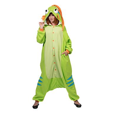 8bc640561ef2 Adults  Kigurumi Pajamas Murloc Onesie Pajamas Polar Fleece Green Cosplay  For Men and Women Animal