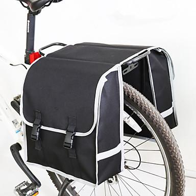 abordables Sacoches de Vélo-25 L Sac de Porte-Bagage / Double Sacoche de Vélo Sacs de Porte-Bagage Multifonctionnel Pluie Etanche Résistant à l'humidité Sac de Vélo Non-tissé Sac de Cyclisme Sacoche de Vélo Cyclisme Activités