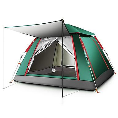 TANXIANZHE® 5 شخص أوتوماتيكي الخيمة في الهواء الطلق ضد الهواء مقاوم للأشعة فوق البنفسجية مكتشف الأمطار طبقة واحدة أوتوماتيكي خيمة التخييم 2000-3000 mm إلى صيد السمك شاطئ Camping / Hiking / Caving