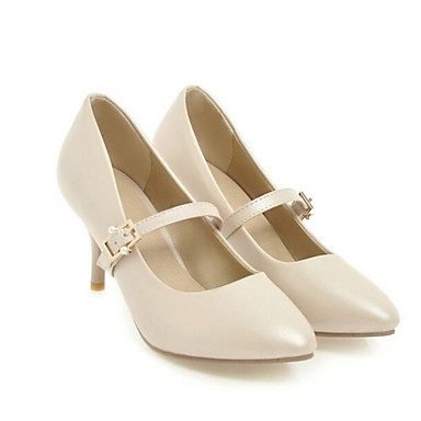 homme / femme's-  pu pu  (polyuréthanne) confort talons de chaussures au talon aiguille blanc / noir / Rose  - vente 839893