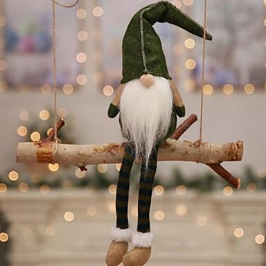 ホリデーデコレーション クリスマスデコレーション Christmas Figurines 装飾用 / かわいい グレー / レッド / グリーン 1個