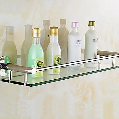 Bathroom Shelf New Design Cool Modern Gles Metal 1pc Single Wall Mounted