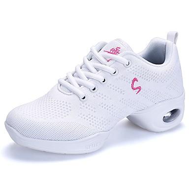 Compiacente Per Donna Sneakers Da Danza Moderna Retato Sneaker Piatto Personalizzabile Scarpe Da Ballo Bianco #07180681 Colori Armoniosi