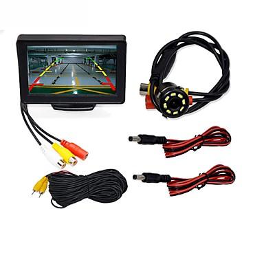 "voordelige Automatisch Electronica-BYNCG WG4.3T-4LED 4.3 inch(es) TFT-LCD 480TVL 480p 1/4"" kleuren CMOS Bekabeld 120 graden 1 pcs 120 ° 4.3 inch(es) Achteruitrijcamera / Auto-achteruitrijmonitor / Car Rear View Kit Waterbestendig"