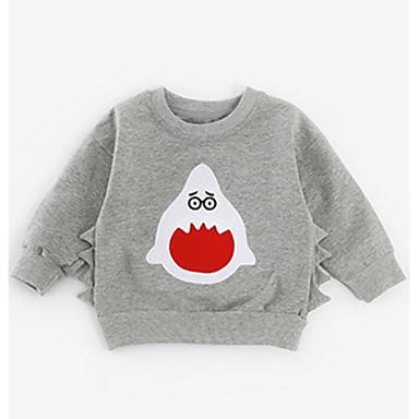 bebf41d4b05 Μωρό Κοριτσίστικα Βασικό Στάμπα Μακρυμάνικο Βαμβάκι Μπλούζα με Κουκούλα & Φούτερ  Ανθισμένο Ροζ / Νήπιο